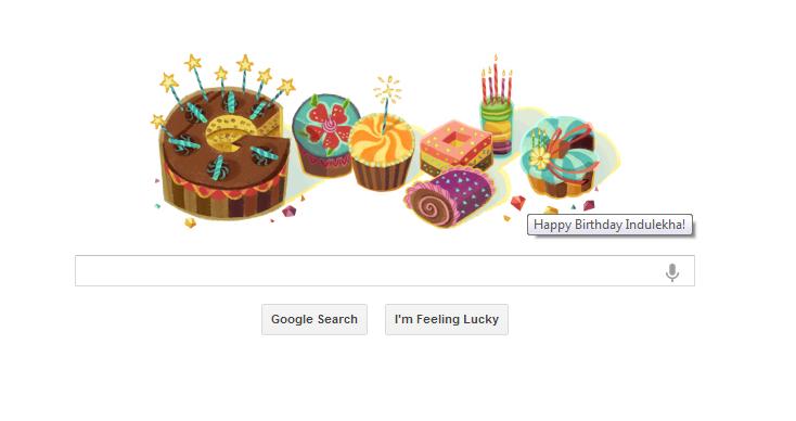 Google wishing me happy birthday