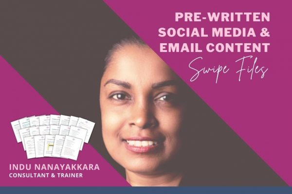 PRE-WRITTEN SOCIAL MEDIA & EMAIL CONTENT